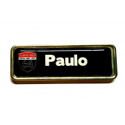 Name Badge Metallic Gold Magnetic